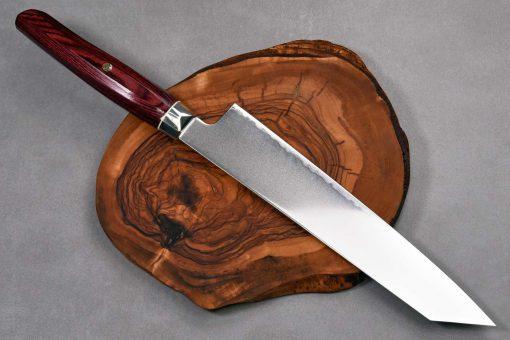 """סכין שף (קיריצ'וקא) זאנמאי 230מ""""מ אדום SG2"""