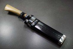 """סכין שטח אזומה סיוסאקו 180מ""""מ Aogami#2 1"""