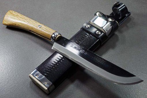 """סכין שטח אזומה סיוסאקו 180מ""""מ Aogami#2 4"""